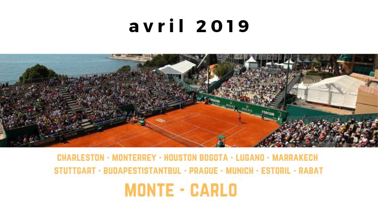 le calendrier tennis pour avril 2019