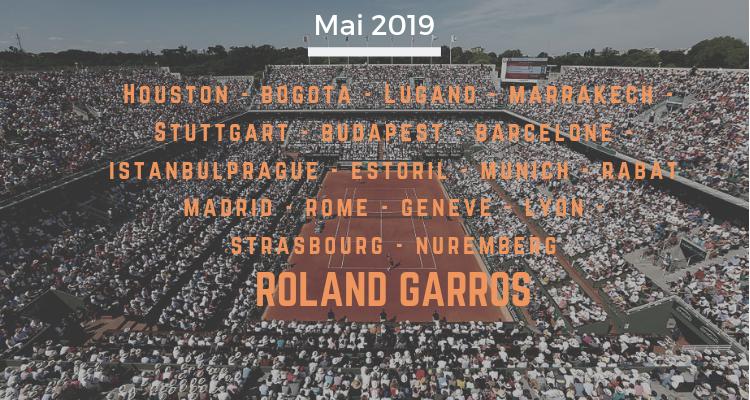 le calendrier tennis de mai